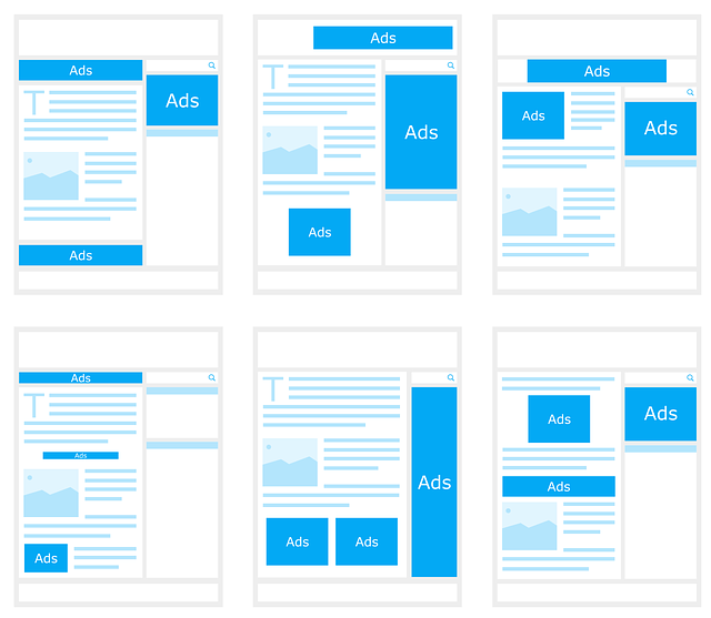 earn money from your website - AdWords layouts